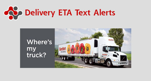 Delivery ETA Text Alerts Banner