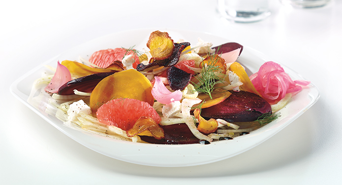 Shaved Beet and Fennel Salad