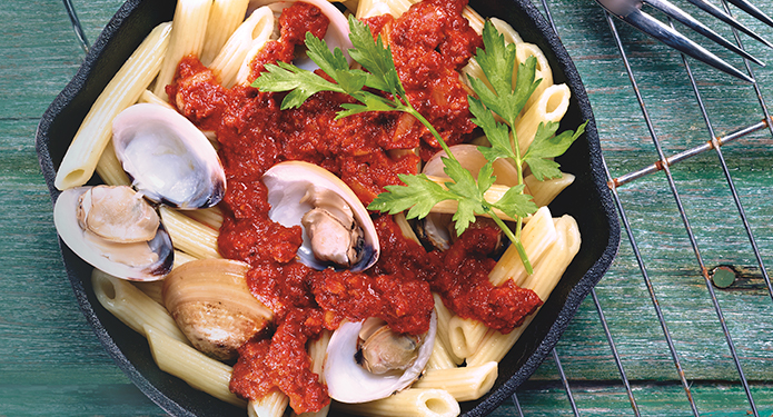 Nduja Clams and Rigatoni recipe