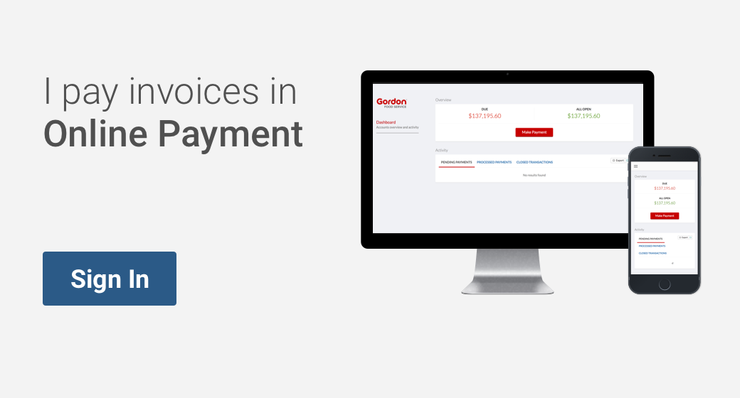 Online Payment Sign In