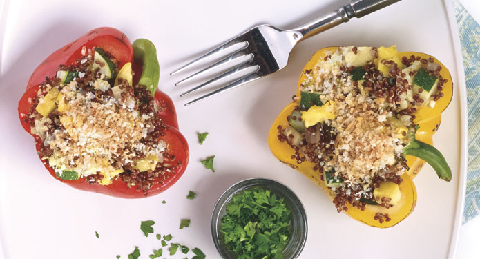 Red Quinoa Stuffed Peppers