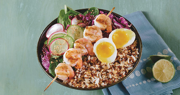 Fried Rice Shrimp Bowl