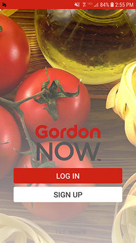 Gordon Now App Log In