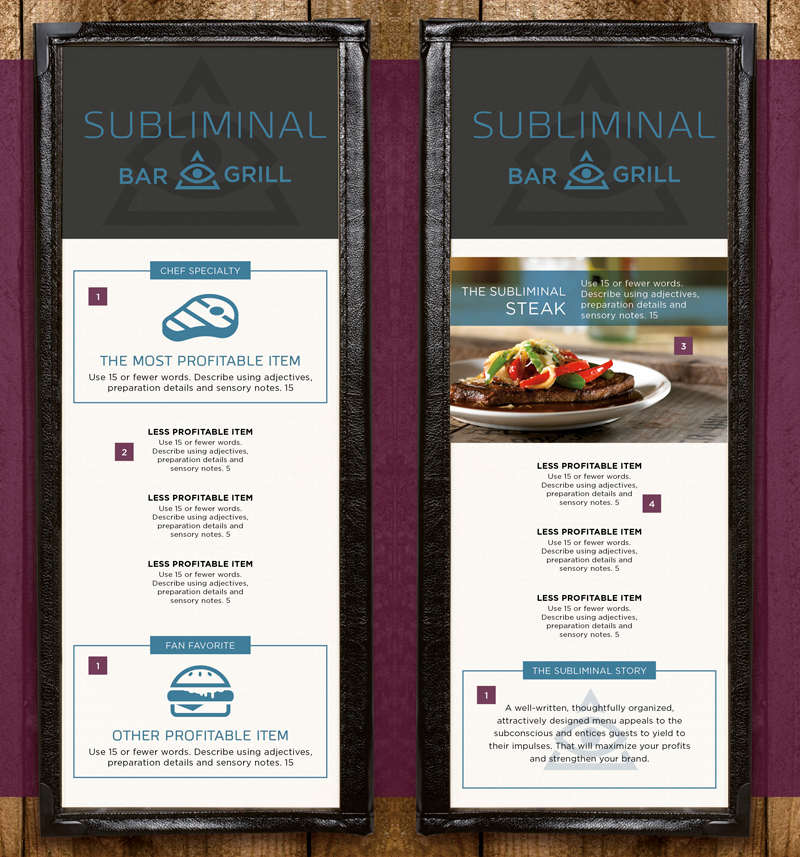 Menu Design Recommendations