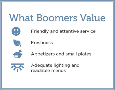 what baby boomers value